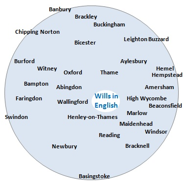 The area covered by Wills in English - Will writing, Lasting Powers of Attorney and related services - includes Abingdon, Amersham, Aylesbury, Banbury, Beaconsfield, Bicester,